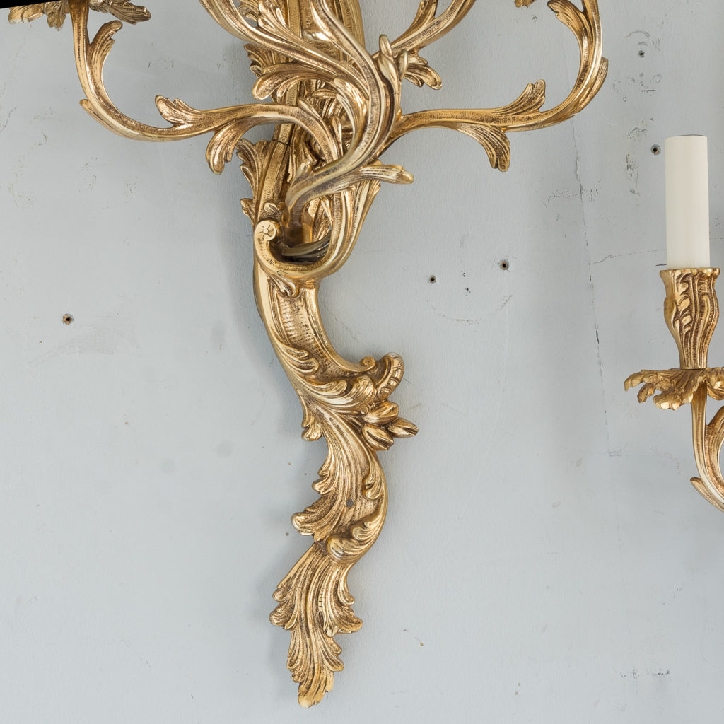 Large gold plated Louis XV style appliques,-129942