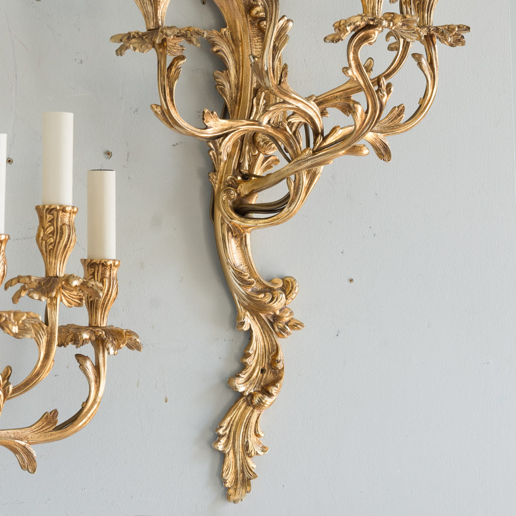 Large gold plated Louis XV style appliques,-129944