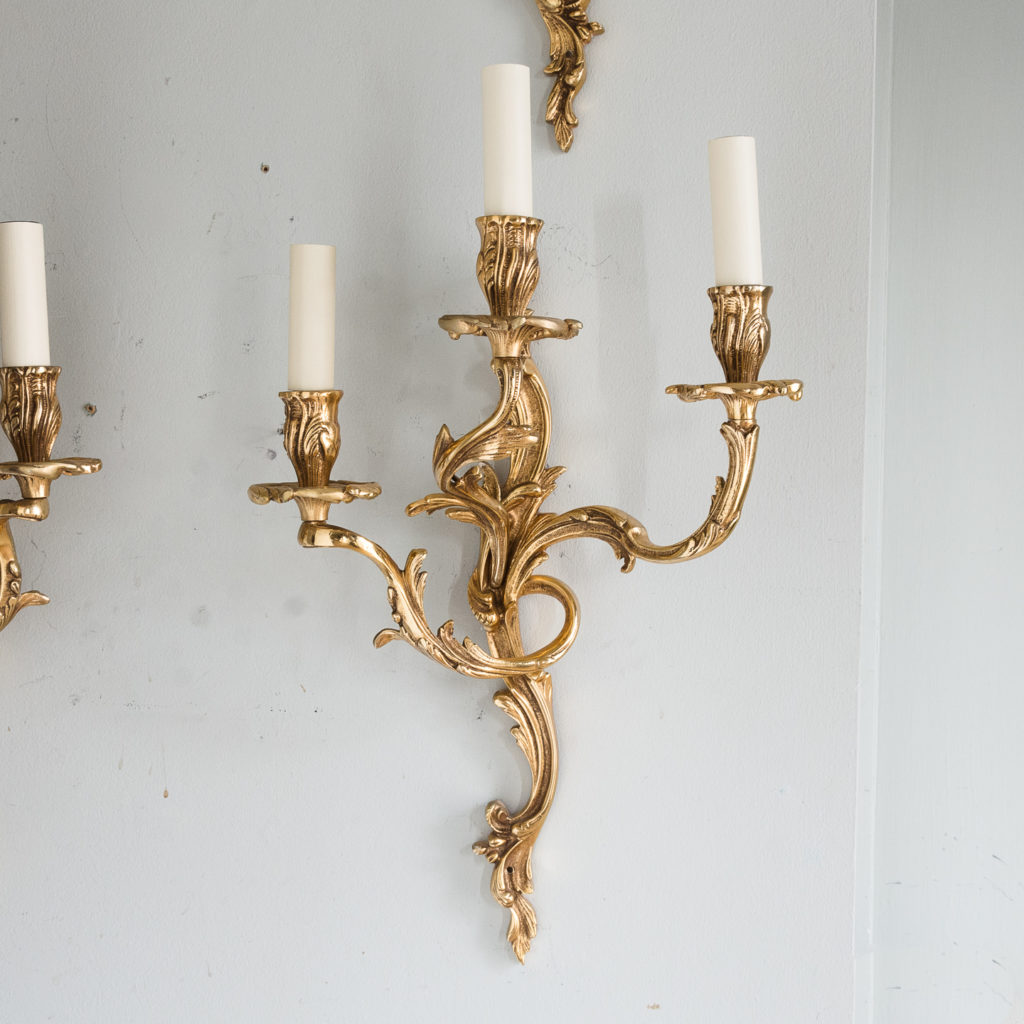 Gold plated Louis XV style appliques,