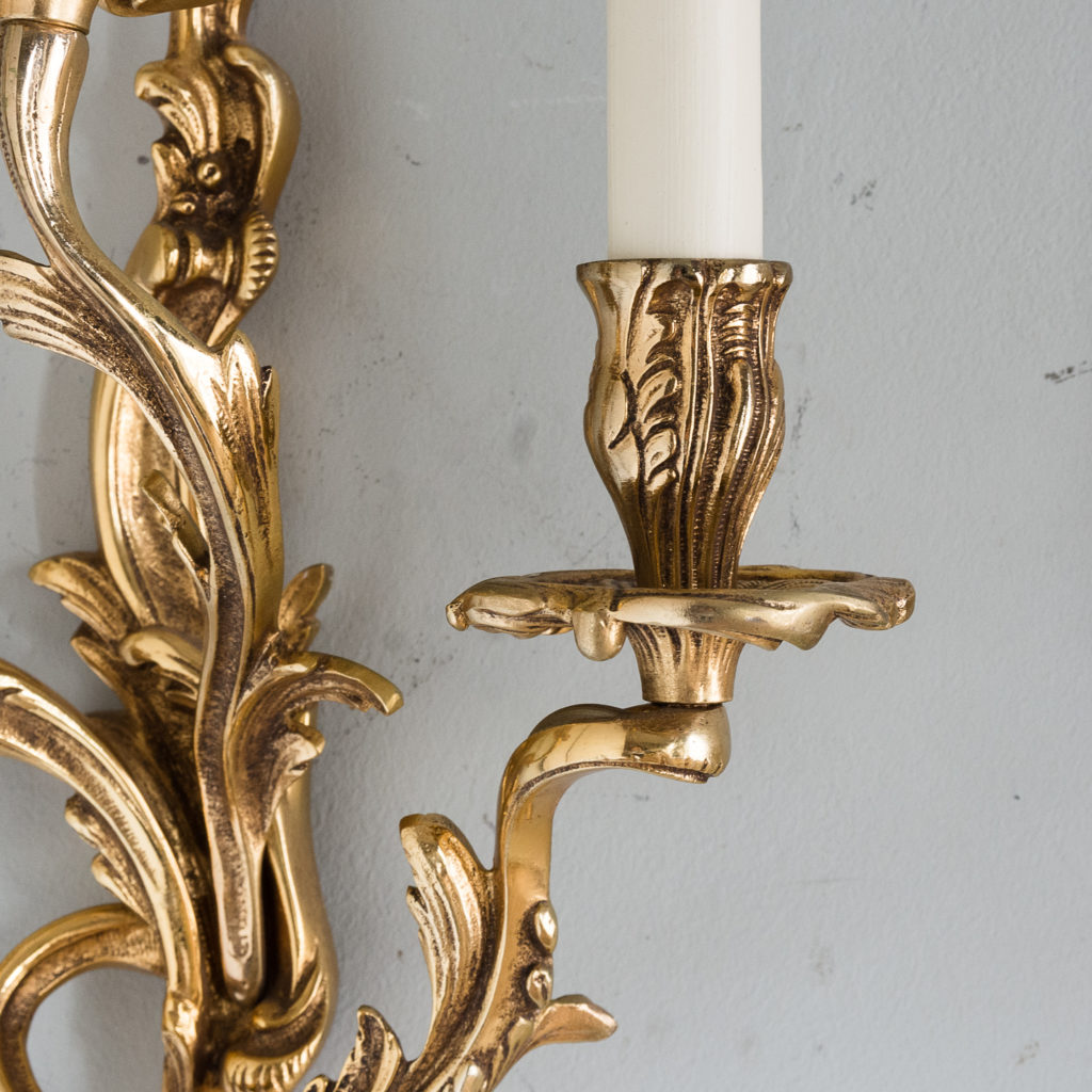 Gold plated Louis XV style appliques,-129937