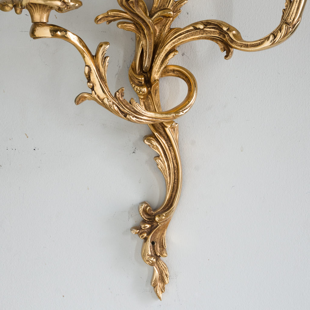 Gold plated Louis XV style appliques,-129936