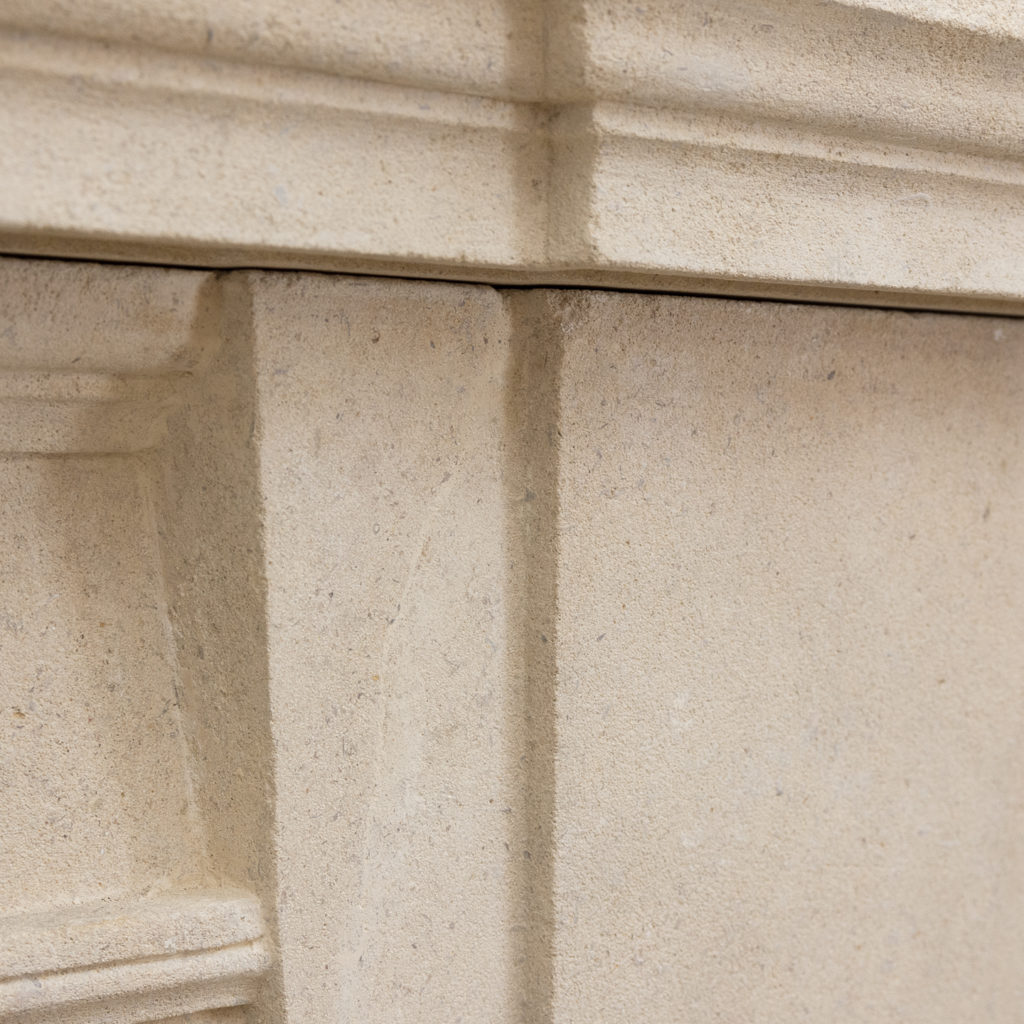 Early twentieth century Bathstone chimneypiece, -128856