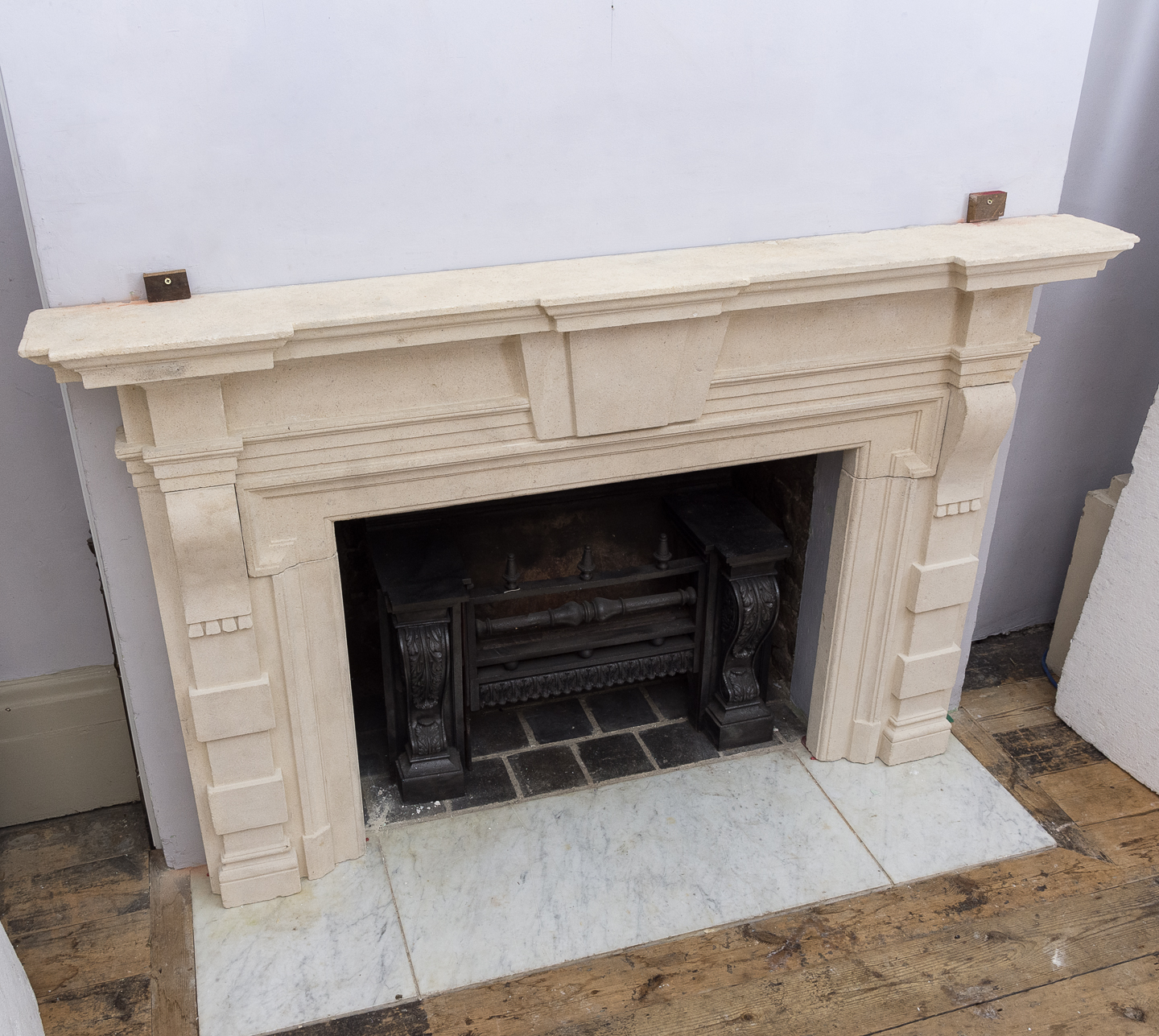 Early twentieth century Bathstone chimneypiece, -128857