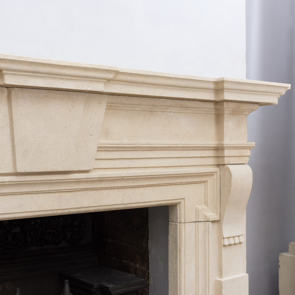 Early twentieth century Bathstone chimneypiece, -128846