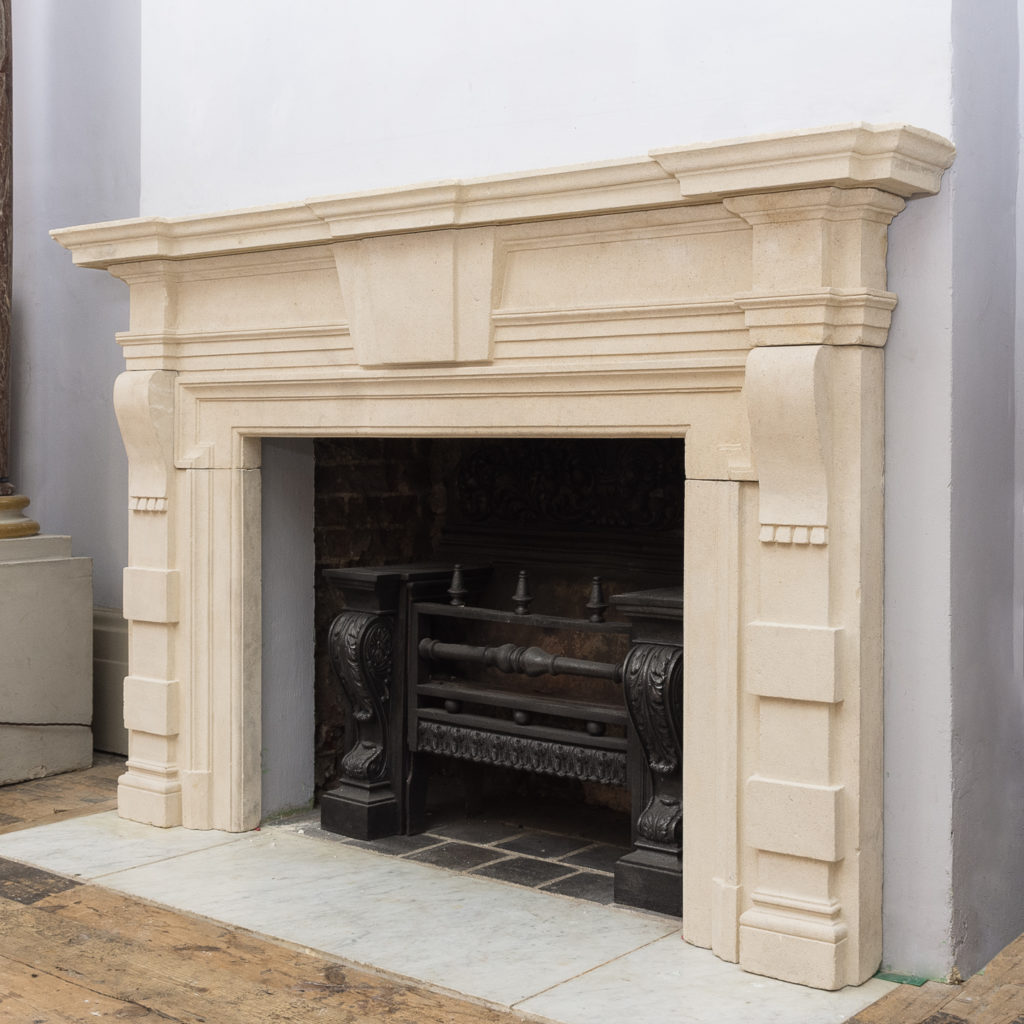 Early twentieth century Bathstone chimneypiece, -128848