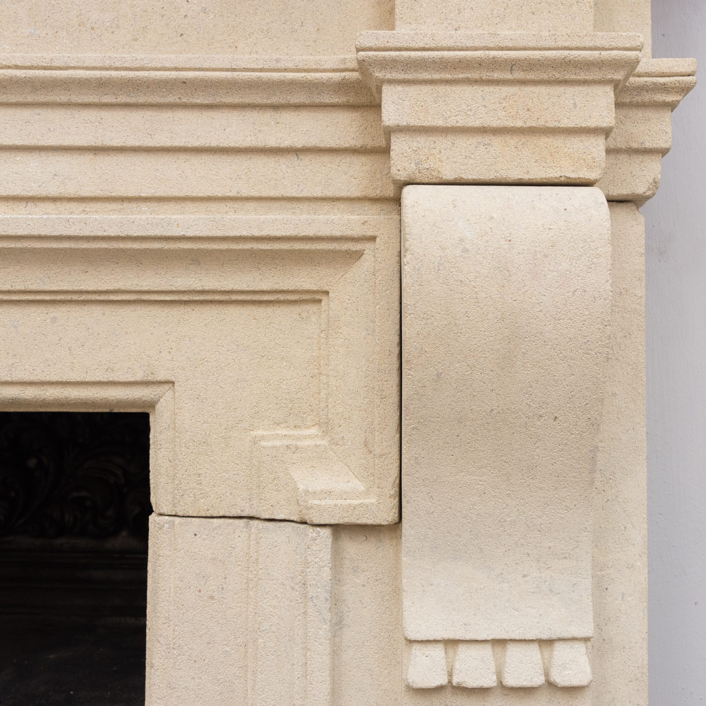 Early twentieth century Bathstone chimneypiece, -128849