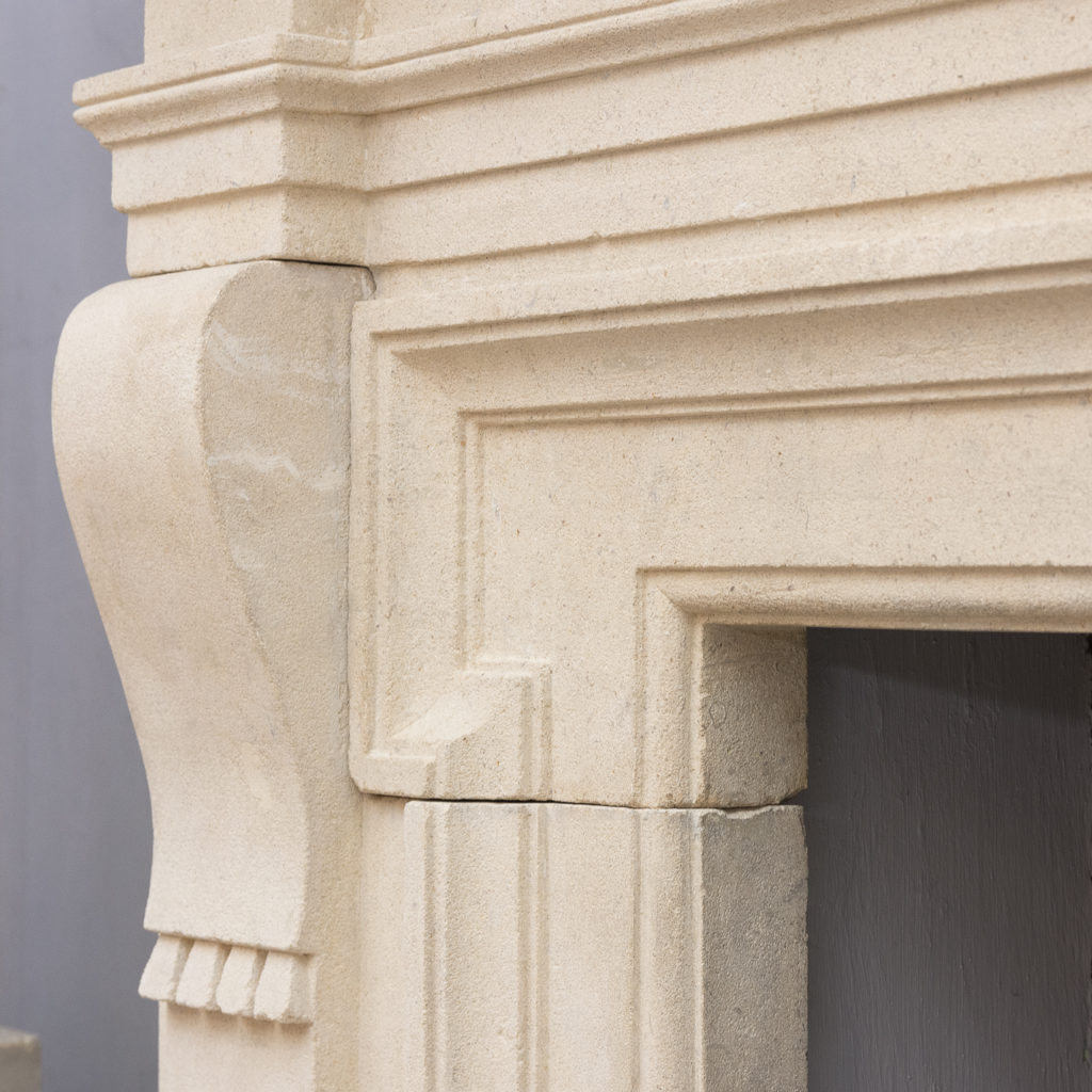 Early twentieth century Bathstone chimneypiece, -128850