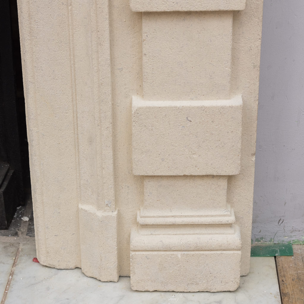 Early twentieth century Bathstone chimneypiece, -128851