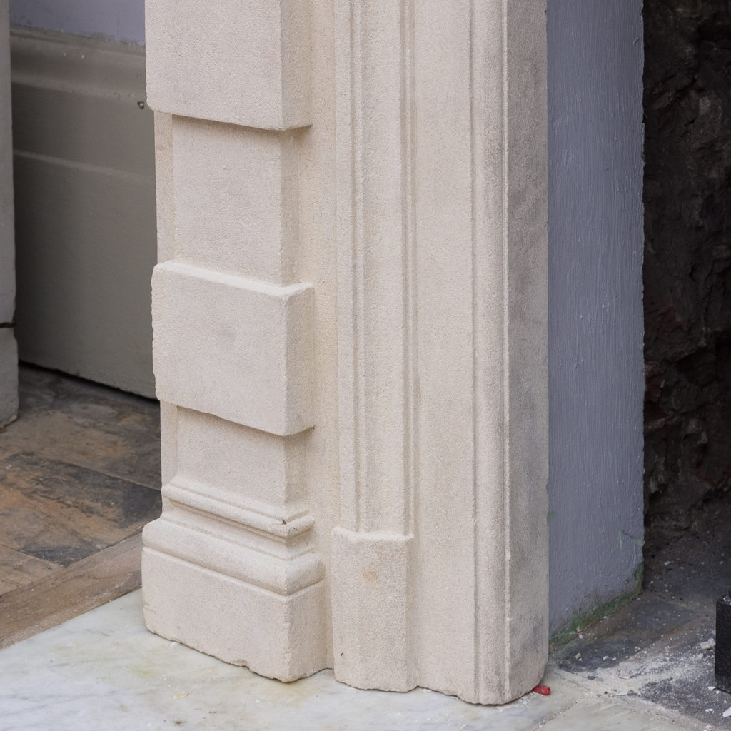 Early twentieth century Bathstone chimneypiece, -128852