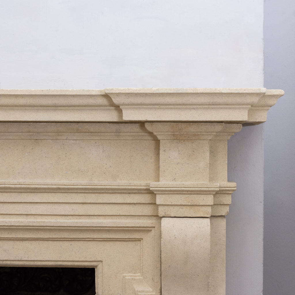 Early twentieth century Bathstone chimneypiece, -128853