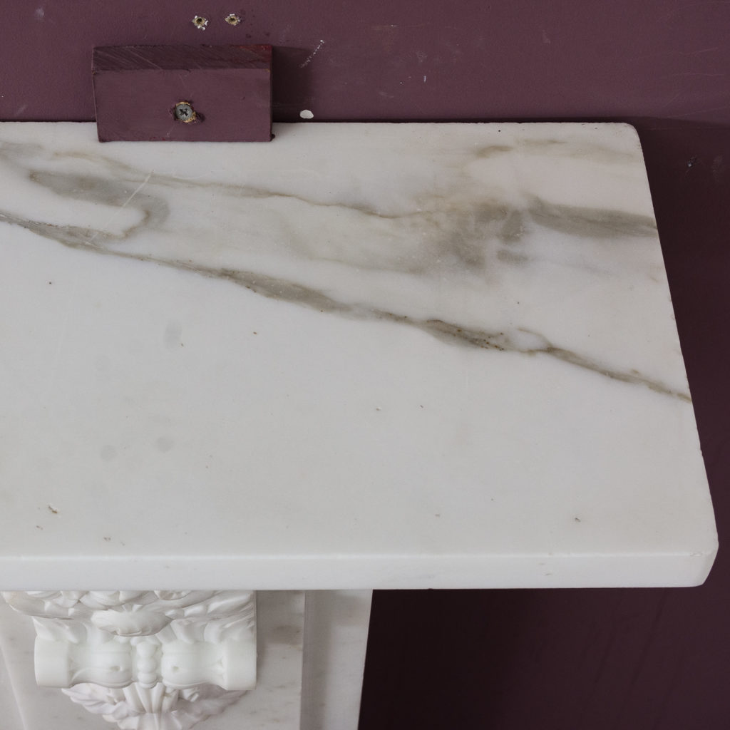 Early Victorian statuary marble chimneypiece,-130420