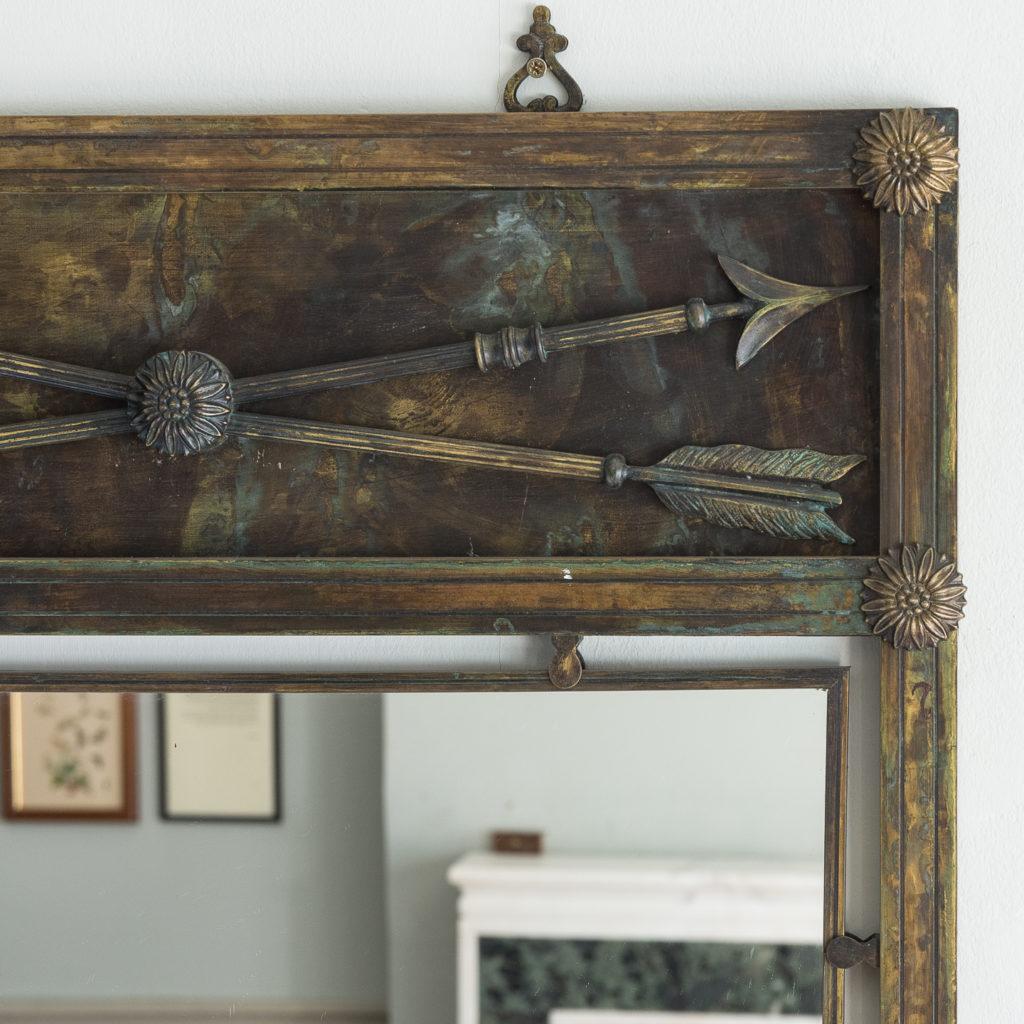 Mid-twentieth century French bronze mirror,-130633
