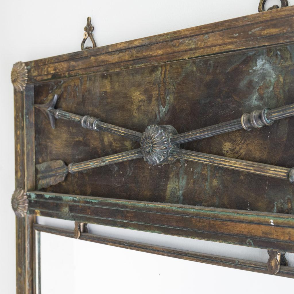 Mid-twentieth century French bronze mirror,-130635