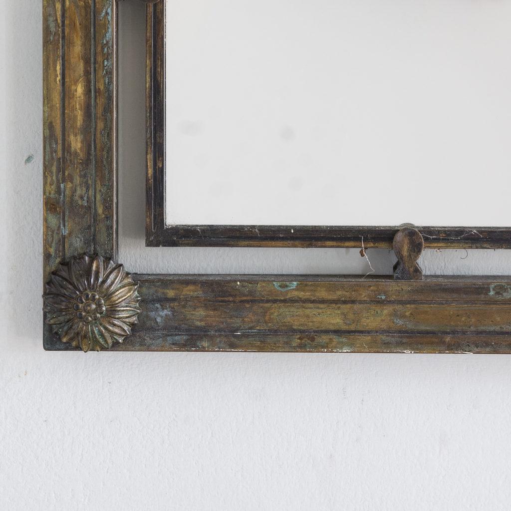 Mid-twentieth century French bronze mirror,-130634