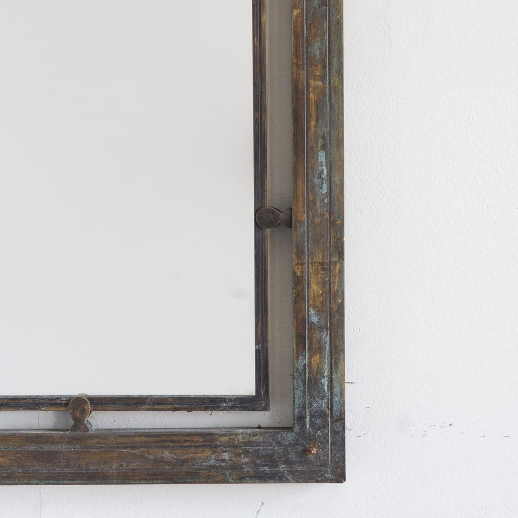 Mid-twentieth century French bronze mirror,-130636