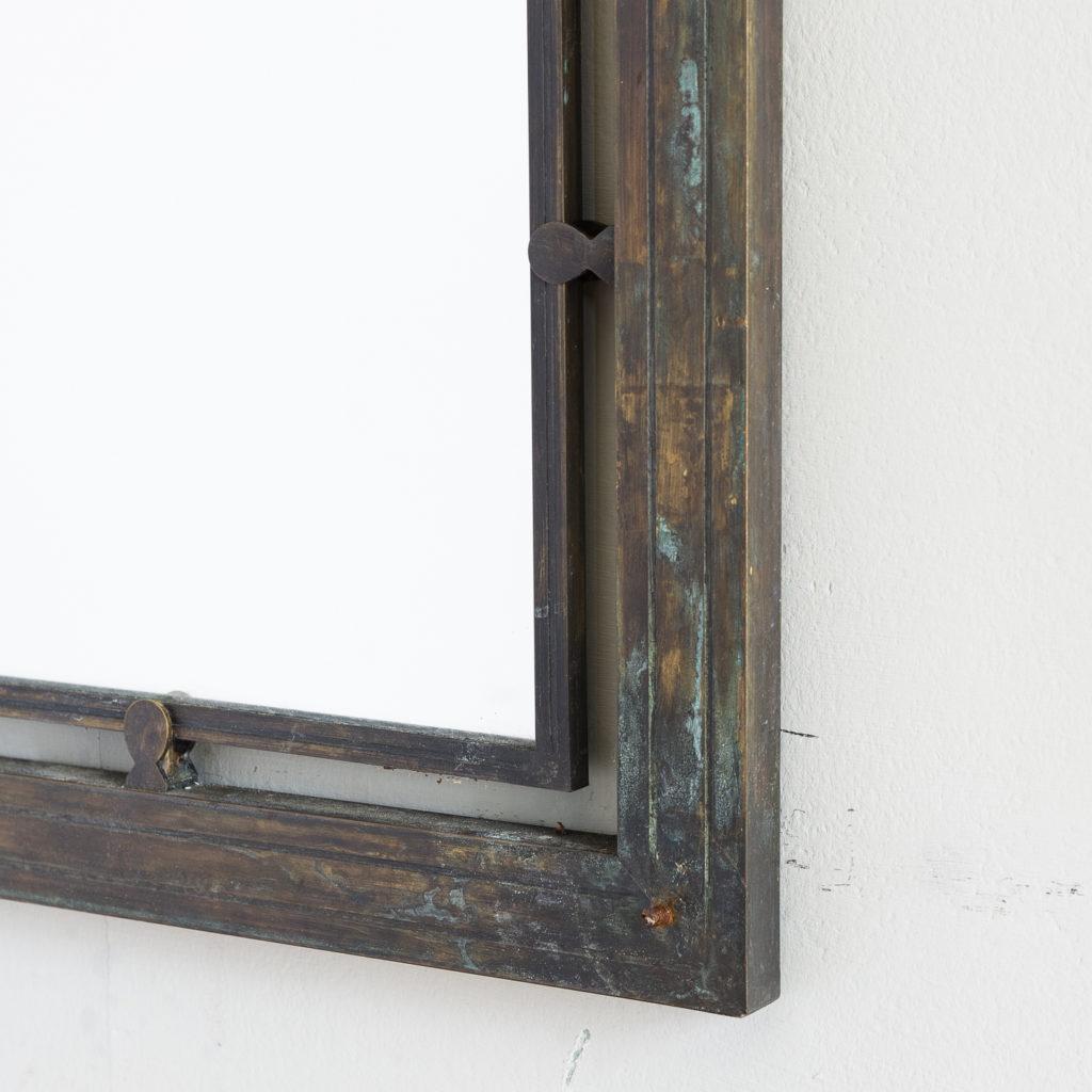 Mid-twentieth century French bronze mirror,-130637