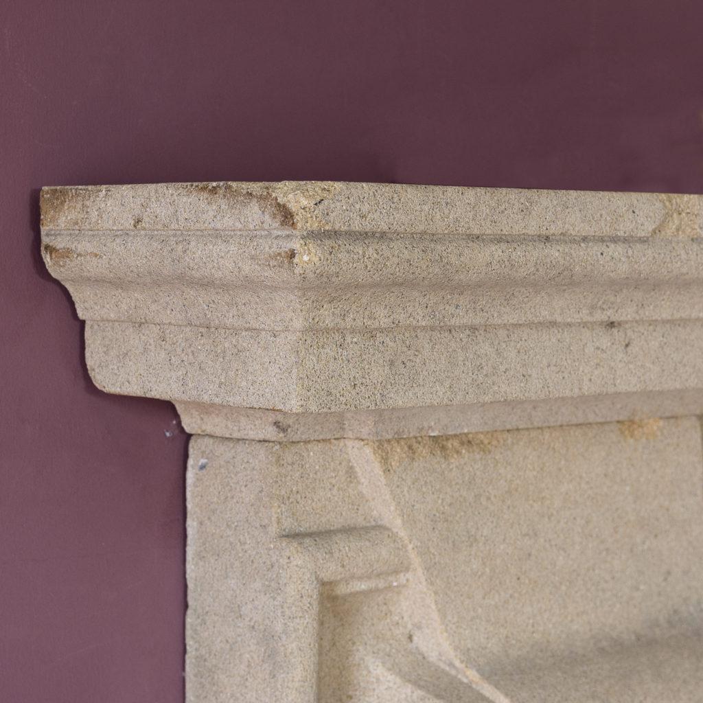 English Baroque style stone chimneypiece,-130476