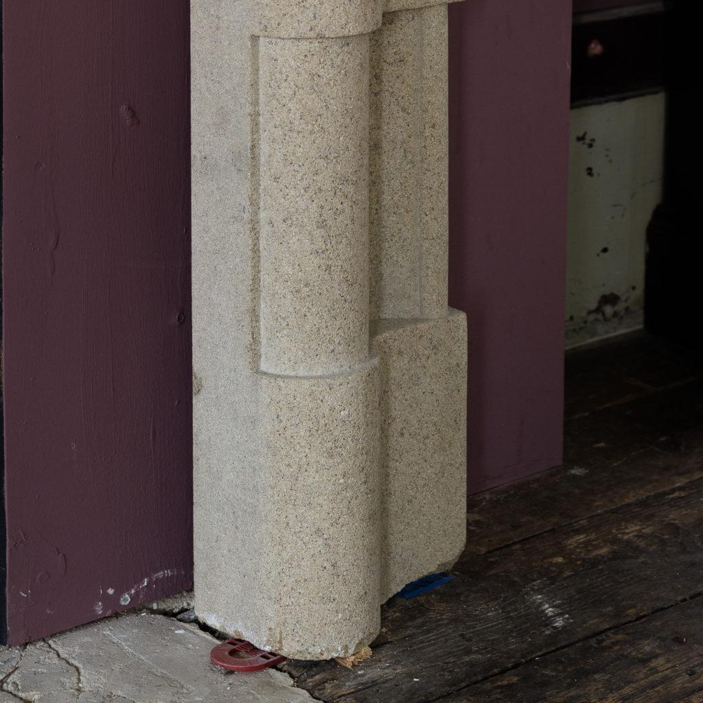English Baroque style stone chimneypiece,-130471
