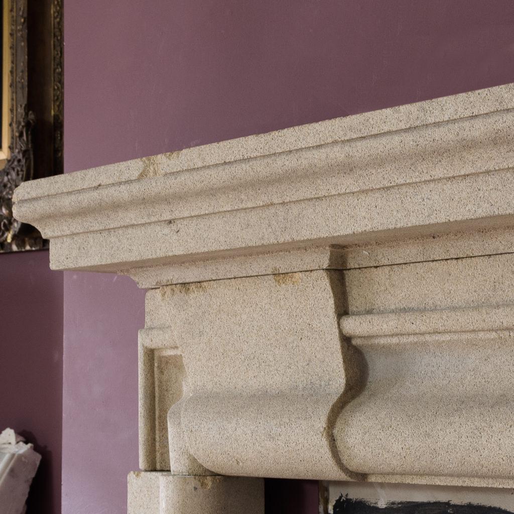 English Baroque style stone chimneypiece,-130473