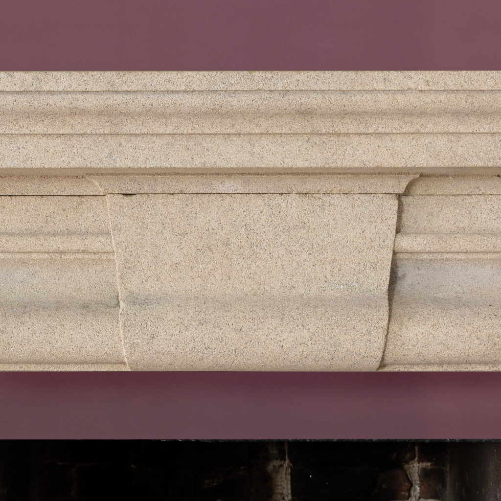 English Baroque style stone chimneypiece,-130475