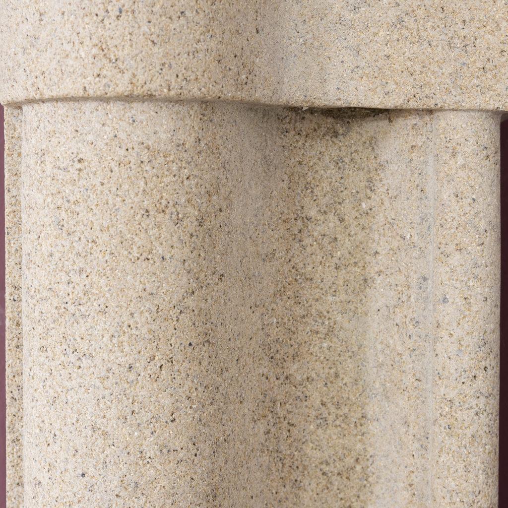 English Baroque style stone chimneypiece,-130474