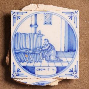 Dutch delft 'bijbeltegel' -0