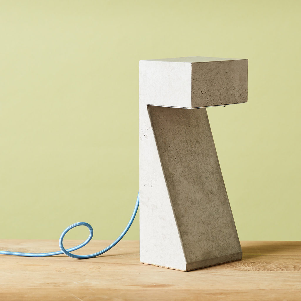 Brutalist style table lamp,-0