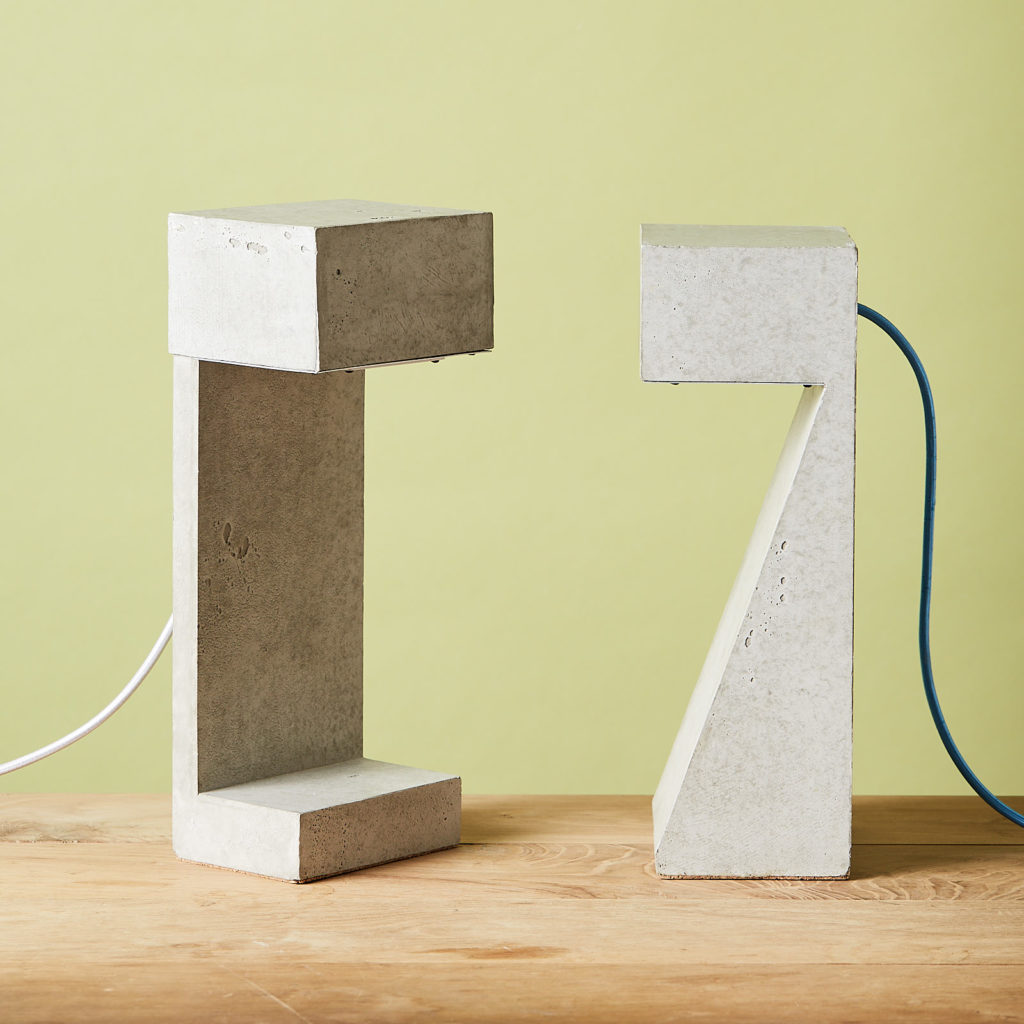 Brutalist style table lamp,-131325