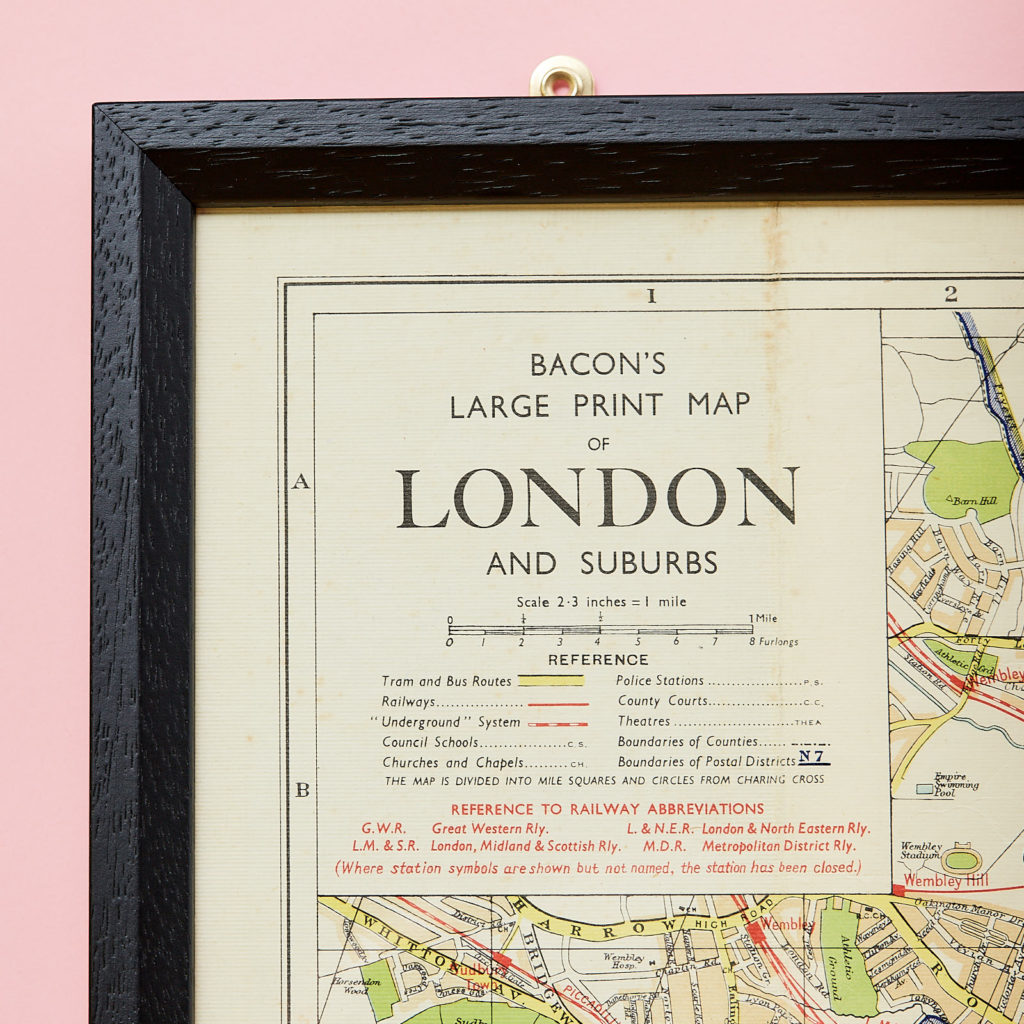 Bacon's large print map of London,-130889