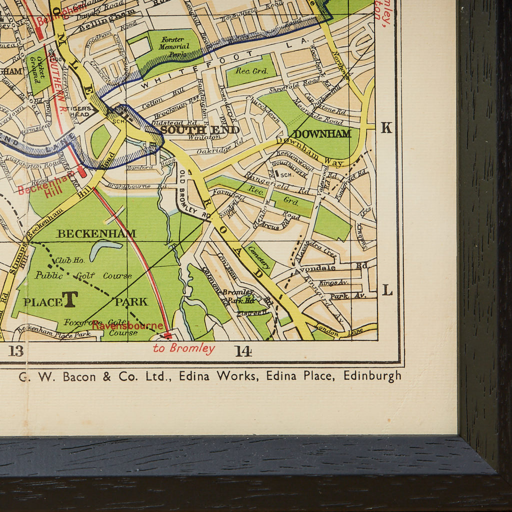Bacon's large print map of London,-130890