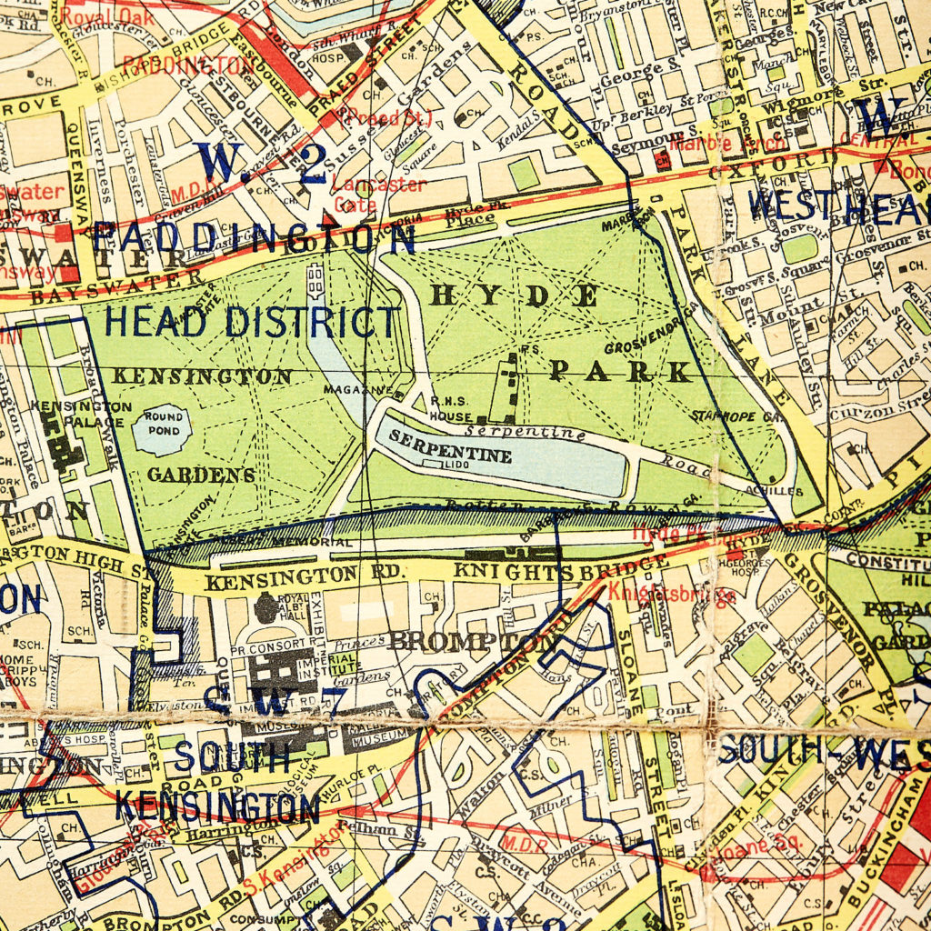 Bacon's large print map of London,-130896