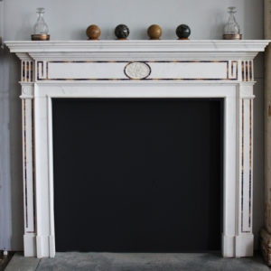 Blue john inlaid chimneypiece
