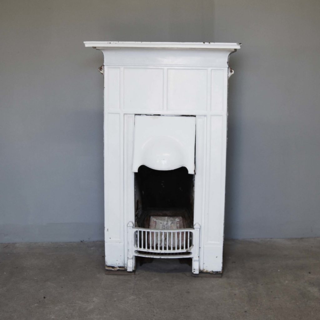 An English cast iron bedroom combination grate-0