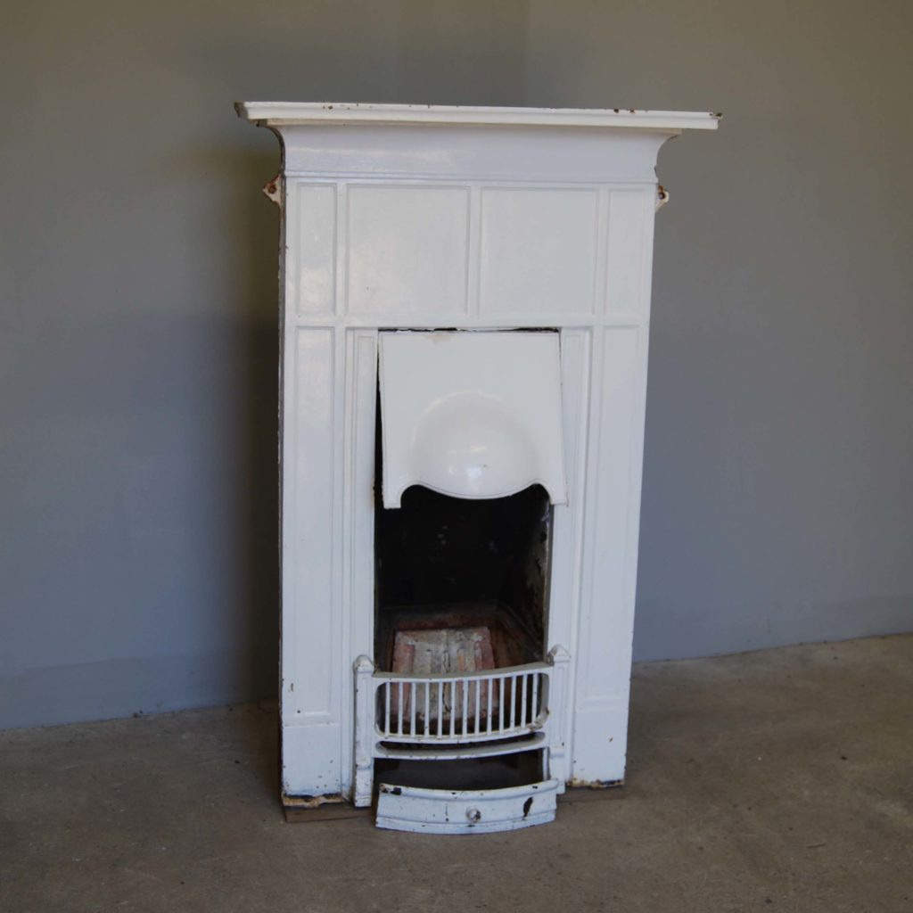 An English cast iron bedroom combination grate-131475