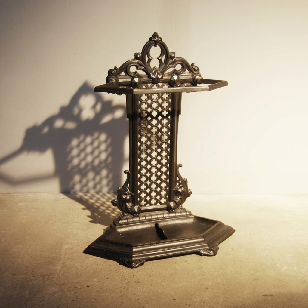 A mid-Victorian cast iron stick stand-0