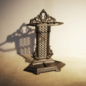 A mid-Victorian cast iron stick stand-0