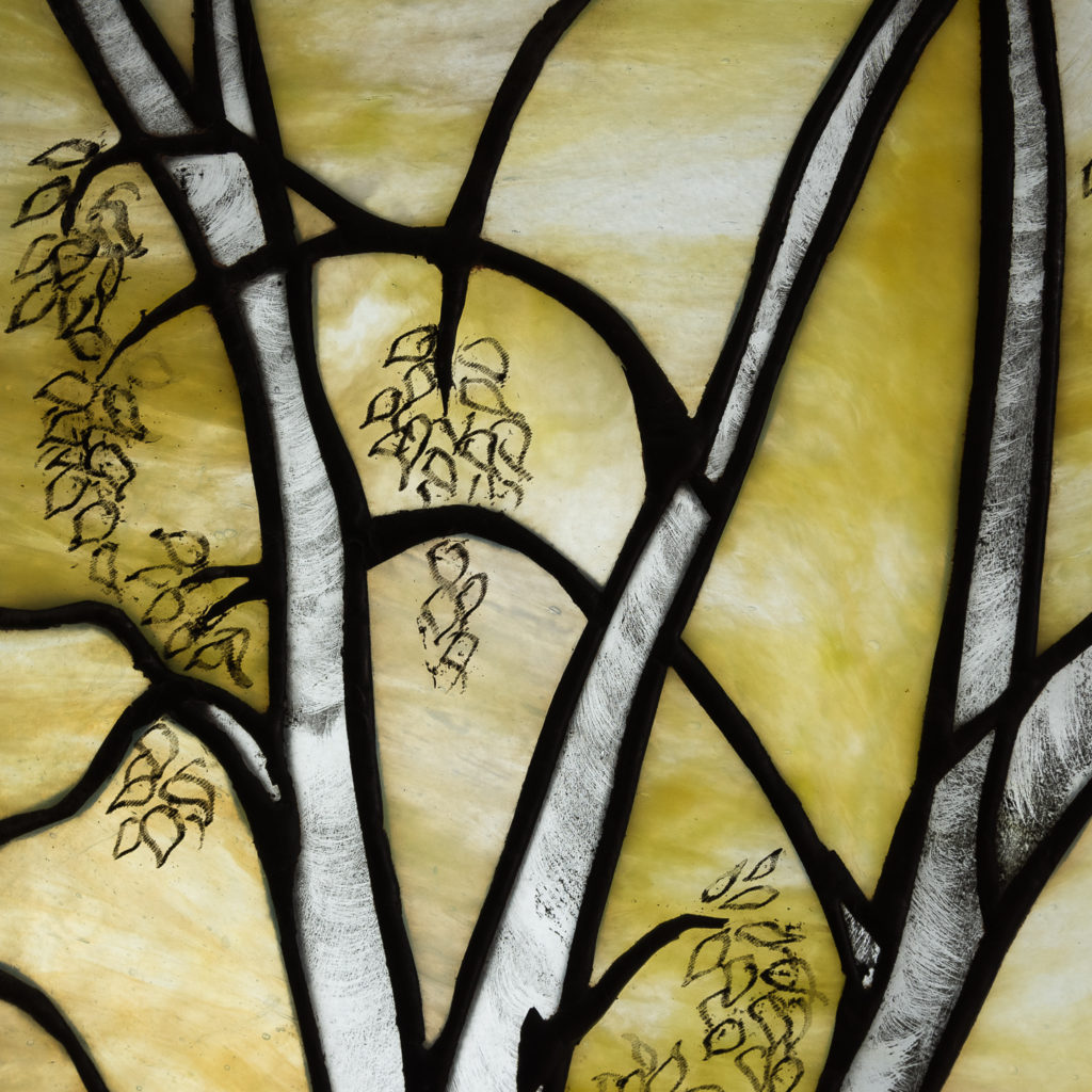Two large Tiffany style stained glass panels, -131714