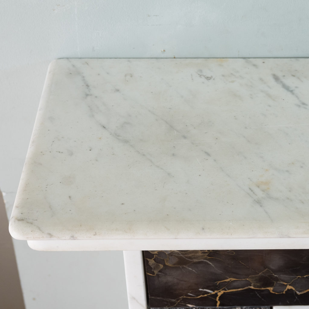 Portoro and Carrara marble chimneypiece,-130680