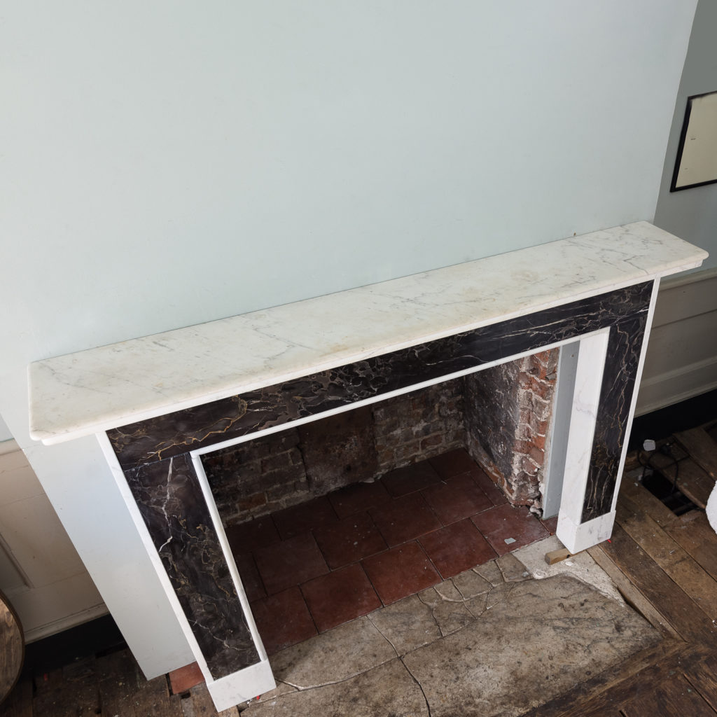 Portoro and Carrara marble chimneypiece,-130683