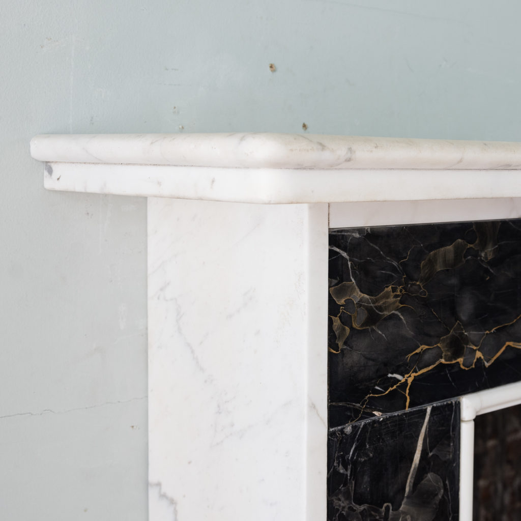 Portoro and Carrara marble chimneypiece,-130678