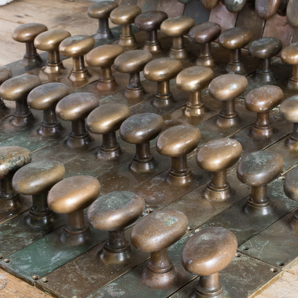 Early twentieth century brass door knobs,