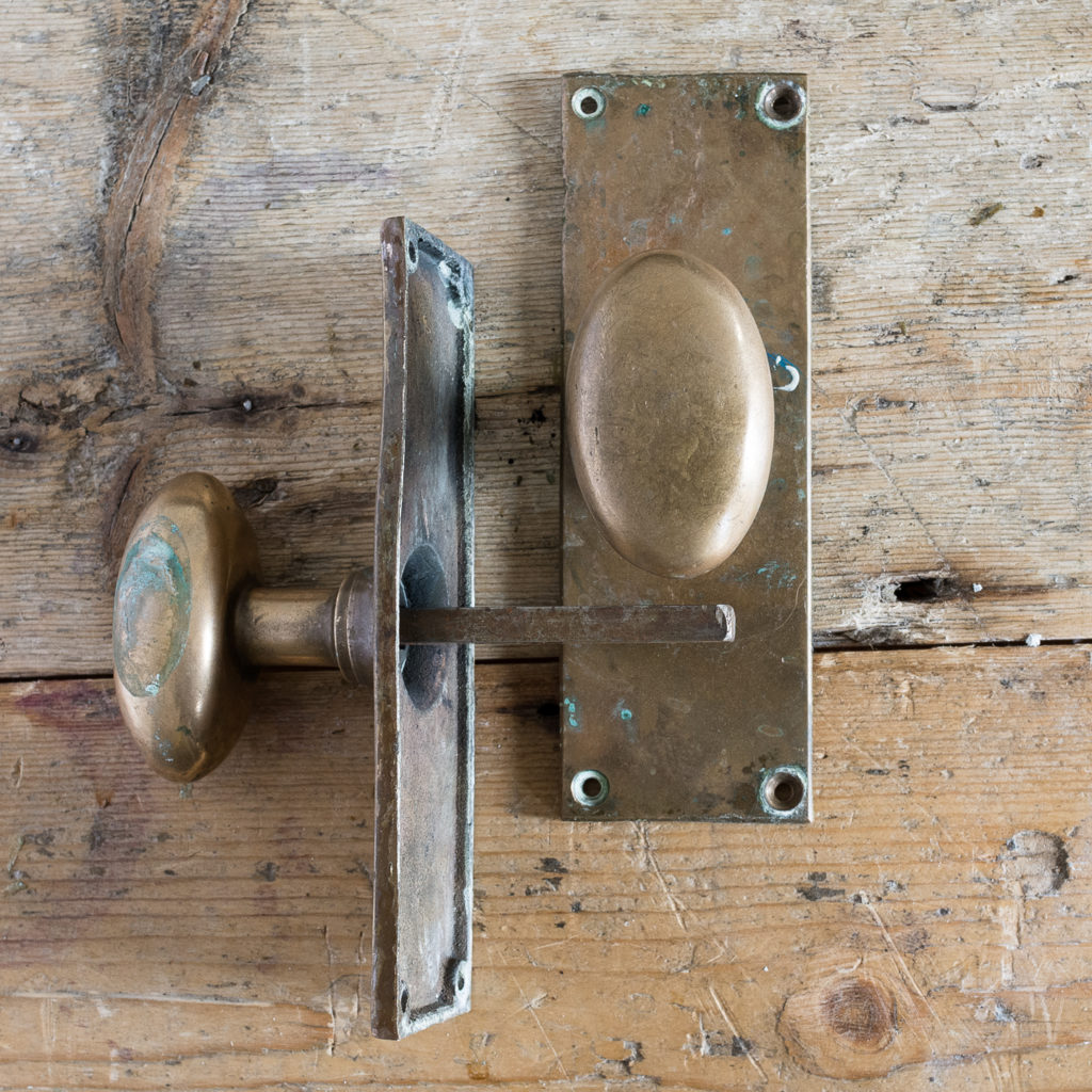Early twentieth century brass door knobs,-131522