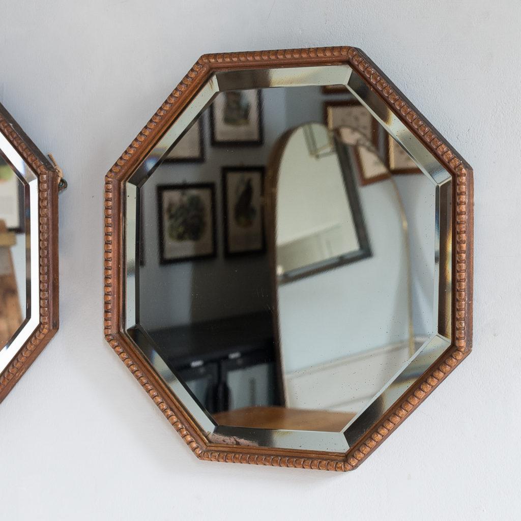 Pair of 1920s octagonal mirrors, -131870