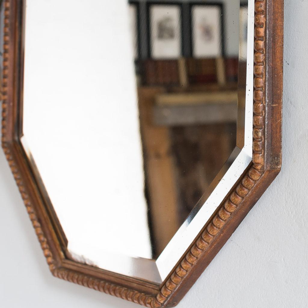 Pair of 1920s octagonal mirrors, -131871