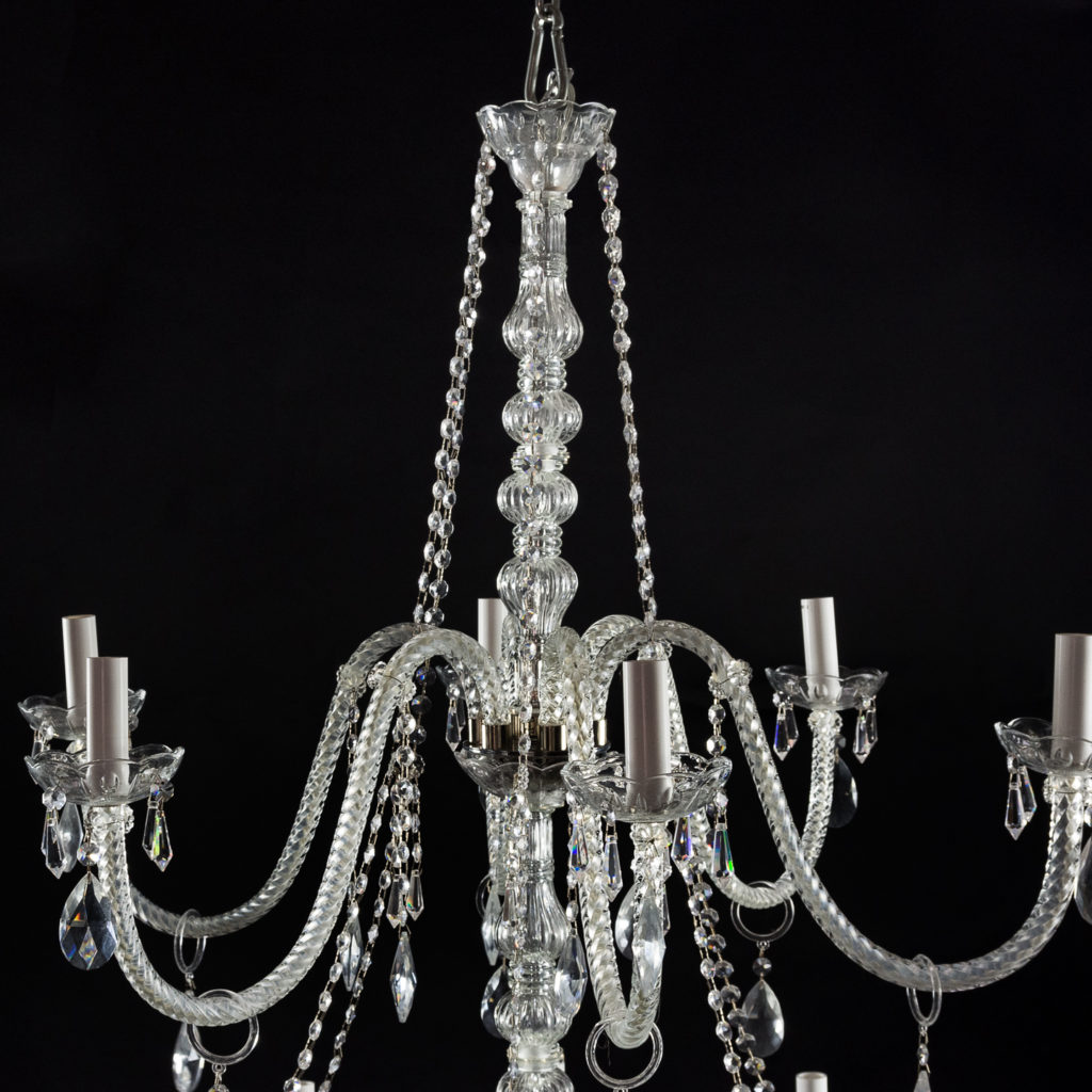 Large eighteenth light moulded glass chandelier,-131740