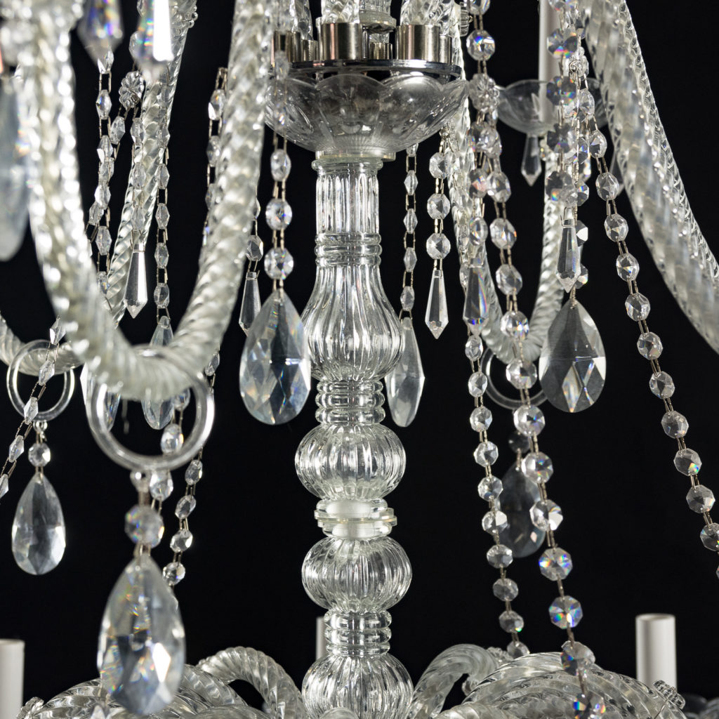 Large eighteenth light moulded glass chandelier,-131741