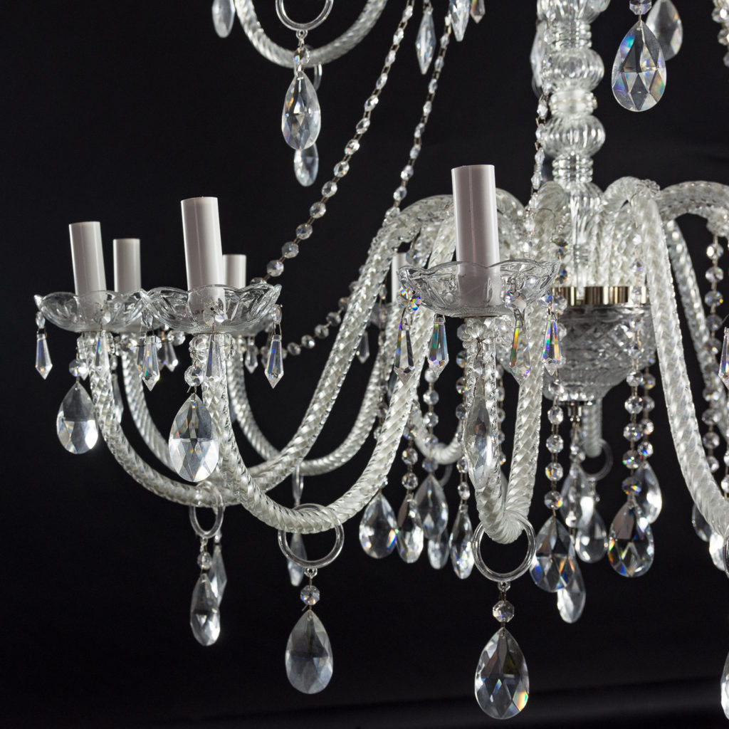 Large eighteenth light moulded glass chandelier,-131742