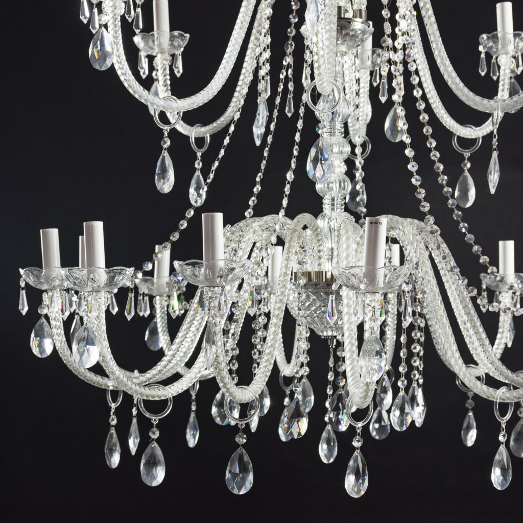 Large eighteenth light moulded glass chandelier,-131743