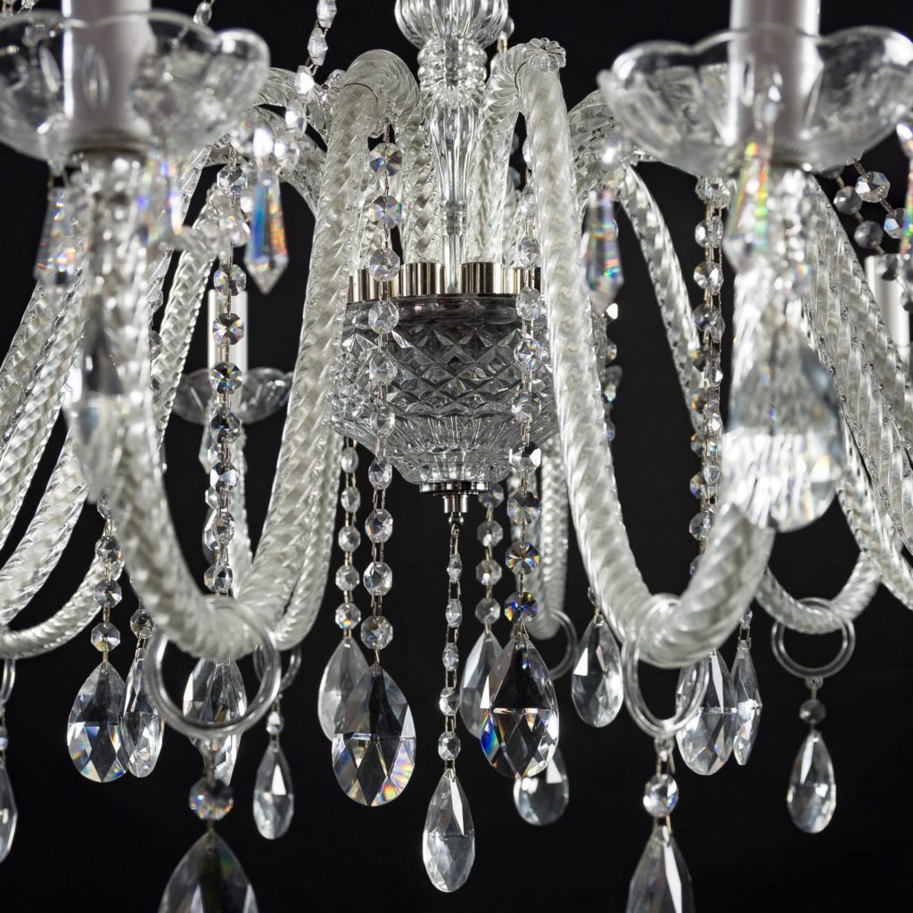 Large eighteenth light moulded glass chandelier,-131744