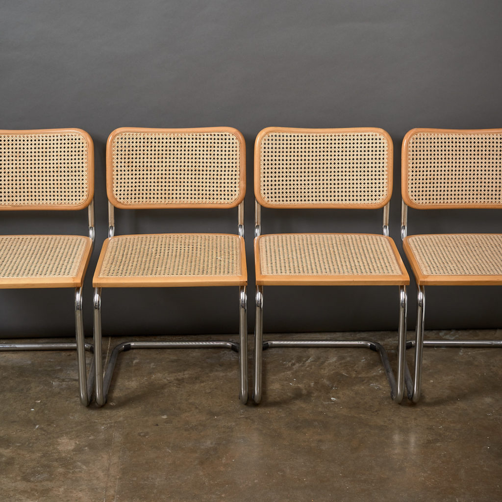 Set of 4 rattan Cesca chairs,-132227